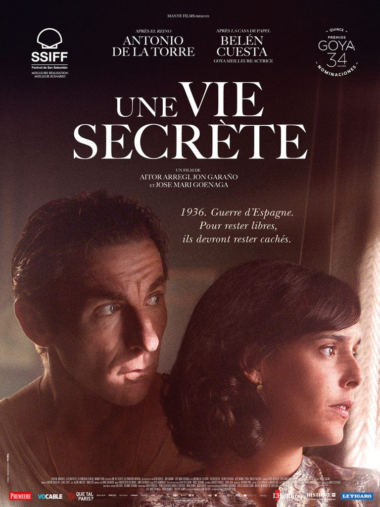 Affiche d'Une vie secrète avec Antonio de la Torre et Belén Cuesta