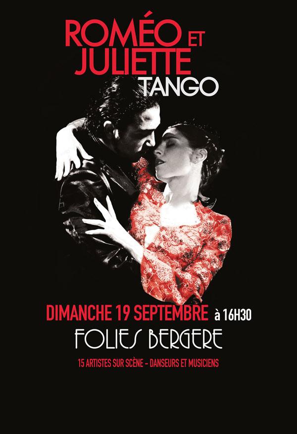affiche du spectacle Roméo et Juliette Tango